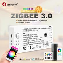 GLEDOPTO ZigBee 3.0 RGB and color LED strip controller DC12-24V work with zigbee3.0 hub smartThings echo pluis Voice control