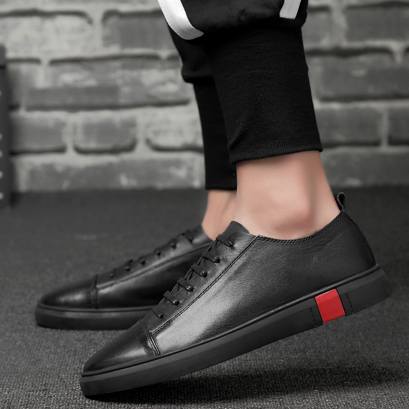 Unisex Fashion Men Genuine Leather Shoes Moccasins Leather Shoes Genuine Leather Autumn Shoes Men Casual Loafers Big Size 36-47