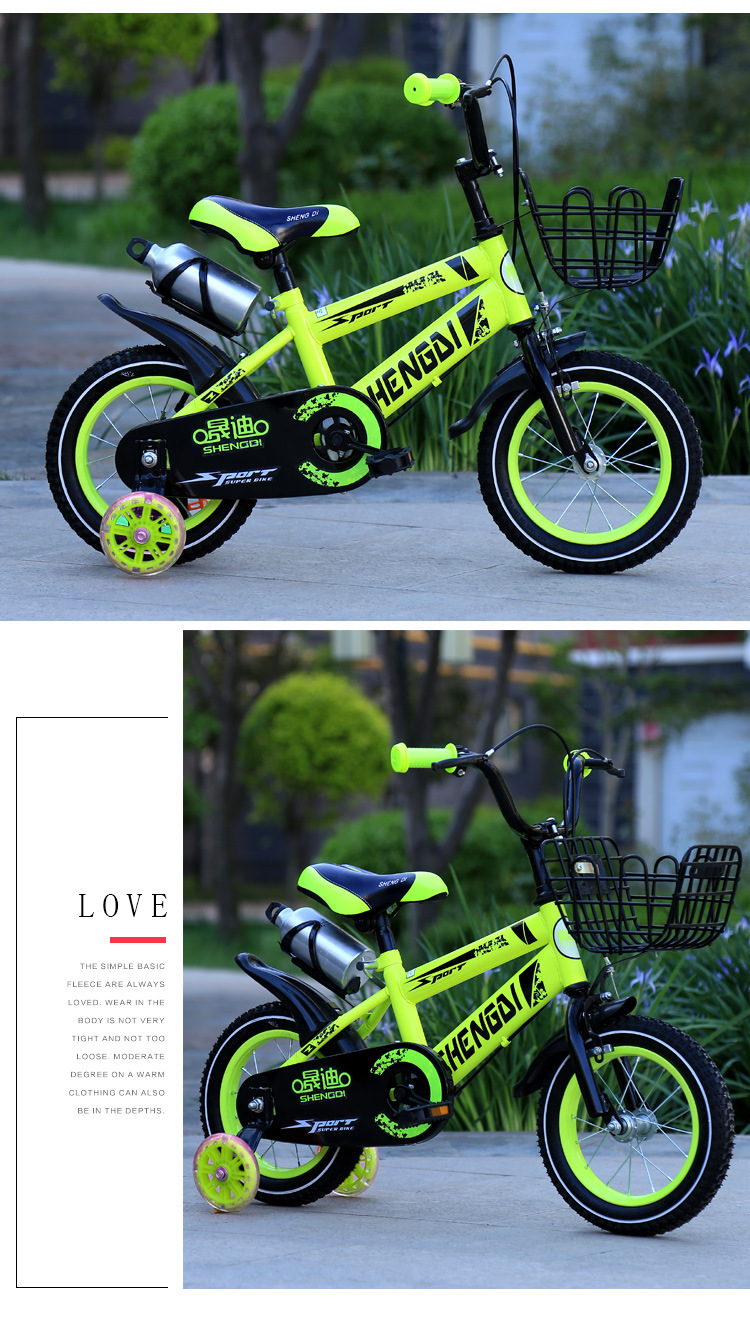H9a4958fab55145f4a431efbee7894234s Children's bicycle 12 inch girl baby bicycle 2-4 years old child girl baby carriage