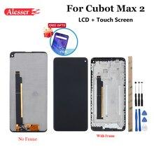"""Alesser Cubot Max 2 LCD ekran ve dokunmatik ekran + çerçeve 6.8 """"montaj onarım parçaları araçları + yapıştırıcı ile + Film için Cubot Max 2"""