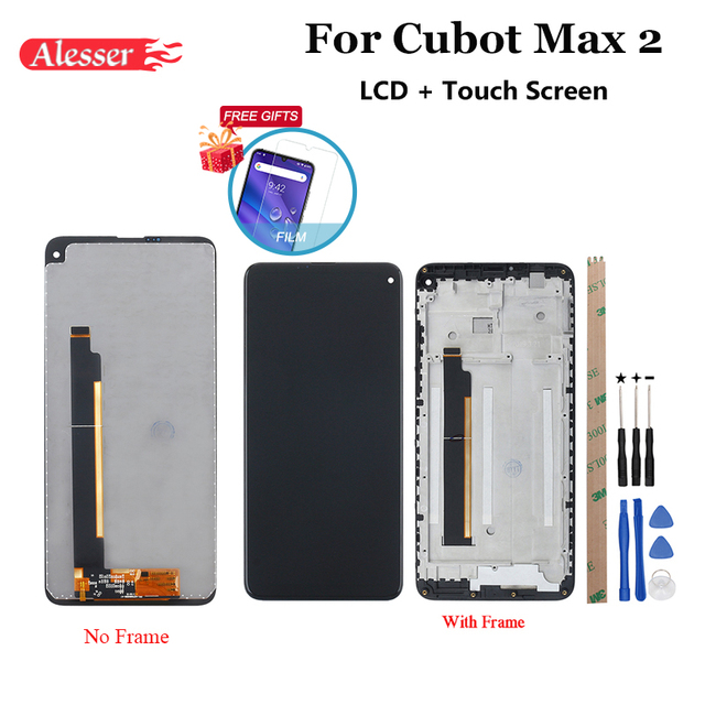 """Alesser For Cubot Max 2 LCD Display and Touch Screen+Frame 6.8"""" Assembly Repair Parts With Tools +Adhesive +Film For Cubot Max 2"""