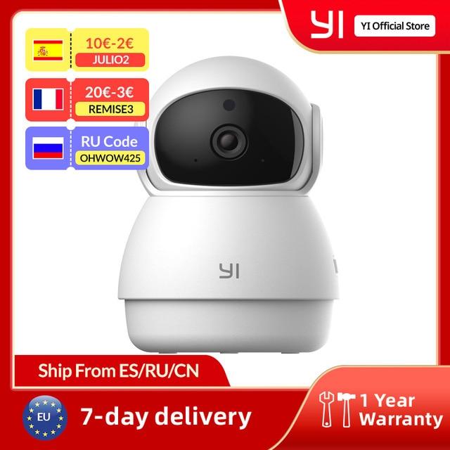 YI Dome Guard Camera 1080p Wifi Camera Human Pet AI Webcam Ip Camera Security Home Indoor Cam Pan & Tilt 360 video recorder cam 1