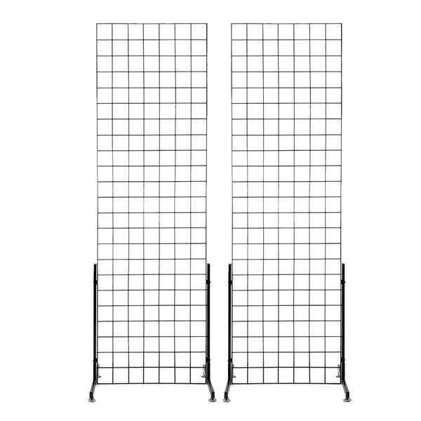 2pcs 5mm Grid Rack Wall Storage Shelf Iron Mesh Frame Multi function Wall Mounted Mesh Panel Wall Art Display Organizer - 3