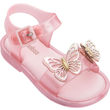 Children's Baby Fashion Jelly Shoes 2020 New Mini Melissa Girl's Summer Sandal Kid's Princess Butterfly Candy Beach Shoe MN029