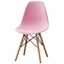 Нордический обеденный стул домашний из твердой древесины ленивый компьютерный стул задний стул для макияжа ткань современный минималистичный дизайн гостиной стул