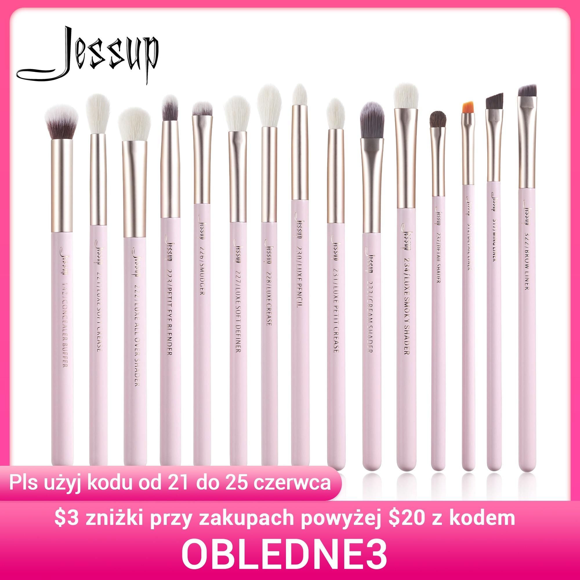 Jessup Makeup Brushes Set 15pcs Professional Eye Makeup Brush Kits Eyeshadow Eyeliner Eyebrow Blending Concealer Brochas