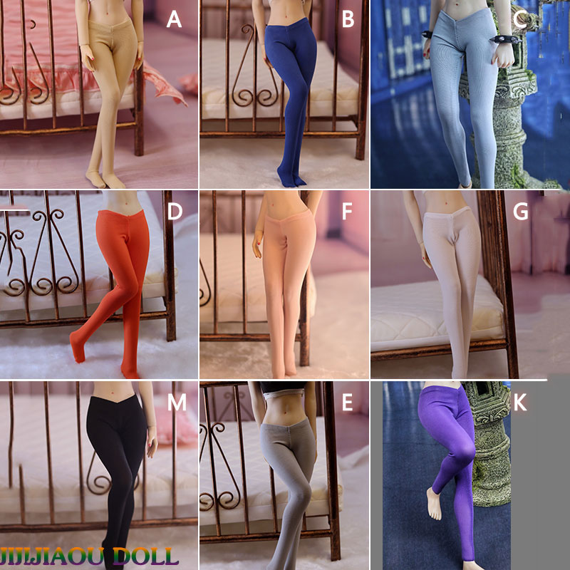 In Stock 1/6 Scale Tight Leggings Pants Model Female Siamese Pants Sexy Stockings for 12
