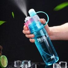 Explosion Sport Mist Water Bottles 400/600ML Protein Shaker Outdoor Travel Portable Leakproof Plastic Drink Bottle