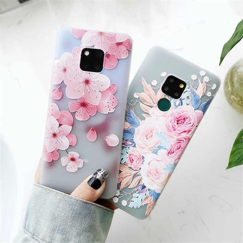 Di lusso 3D Fiori Cassa Del Telefono Per Huawei P30 Pro P30 P40 lite Caso Molle di TPU Della Copertura Per Huawei P20 lite mate30 Pro Honor 8X 9X Caso