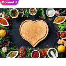 MomoArt 5D Kitchen Diamond Painting Cartoon DIY Full Drill Square Rhinestone Seasoning Embroidery Decoration