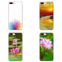 Pattern Hard Phone Case Lotus Flower For LG G2 G3 G4 G5 G6 G7 K4 K7 K8 K10 K12 K40 Mini Plus Stylus ThinQ 2016 2017 2018(China)