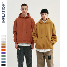 INFLATION 2020 Autumn Mens Thick Fleece Hoodies Hip Hop Pure Hoodies Thick Velvet Fabrics Winter Hoodies For Men Women 167W17 cheap Full Casual Solid REGULAR Turn-down Collar None Thick (Winter) Polyester COTTON Loose 51 Cotton+41 Polyester +8 Viscose