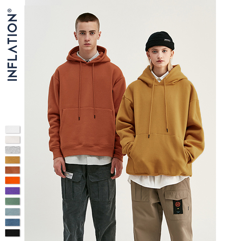 Inflacja 2019 jesień mężczyzna grube polarowe bluzy Hip Hop czyste grube aksamitne tkaniny zimowe dla mężczyzn kobiety 167W17