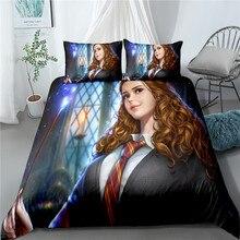 Bedding-Set Bedclothes-Sheet-Set Harrypotter Pillowcase Duvet-Cover Bedroom 3D Print
