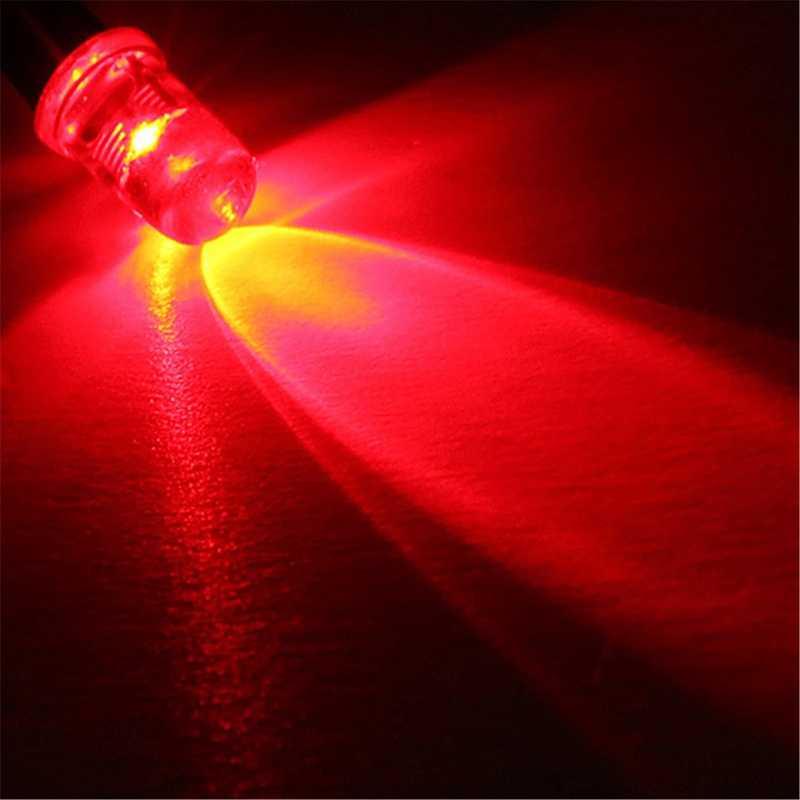 Lámpara de Diodo UV RGB presoldada, 10 Uds., 5mm, 12V, 20cm, precableada, blanca, roja, verde, azul, amarilla, con diodos emisores de luz
