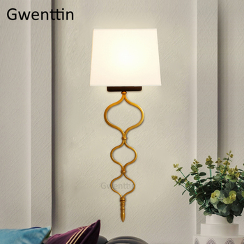 Modern Gold Led Wall Lamp Nordic Luxury Wall Sconce Living Room Light Fixtures Bedroom Bedside Lamps Mirror Lights Home Decor nordic led wall light design arne jacobsen modern wall sconce light fixtures replica lamp hanging lamps bedroom decor wall lamp