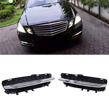 JIUWAN Car LED Daytime Running Lights DRL Fog Light Fit for Mercedes-Benz W212 E250 E300 E350 2009-2013 2128851574 2128851674 цена 2017