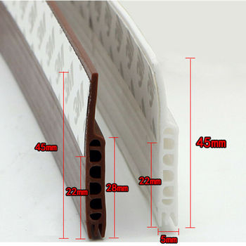 Adhesive Under Door Sweep Weather Stripping Soundproof Rubber Bottom Seal Strip 1