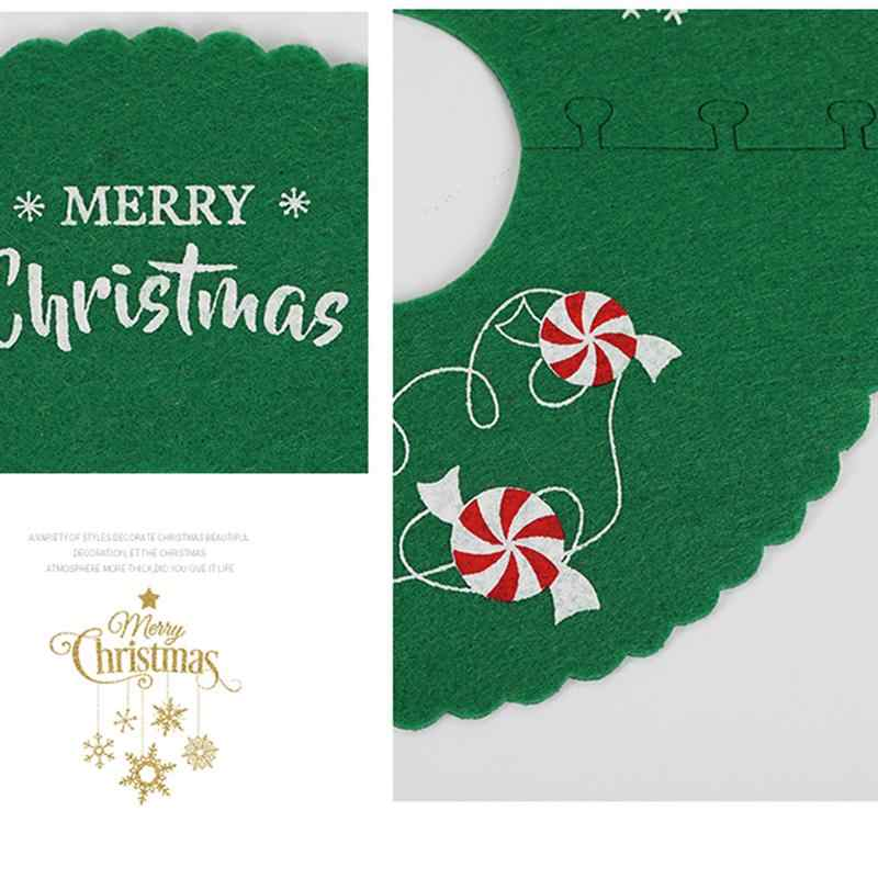 3 枚のミニクリスマスツリースカートダイニングテーブルスモールクリスマスギフトカード木ラウンドカーペットなしのためのセンターピースパーティーの装飾 a35