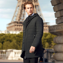 BOSIDENG mens white goose down jacket business fashion casual long down coat winter thickening warm parka B70133003