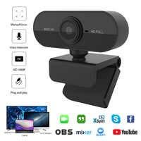 Cámara web 1080P con micrófono, Webcam Full HD 1080P con micrófono para ordenador, videollamadas en vivo