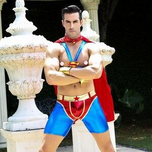 Image 3 - Disfraz de superhéroe para hombre, Superman de disfraces de Cosplay para fiesta de Halloween, 6610