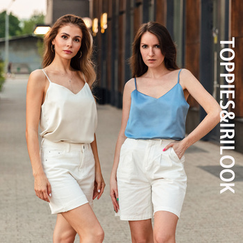 Toppies Green Camisoles Woman Sleeveless Tops Summer Tops Imitation silk Elegant vest Solid Color Tube 1