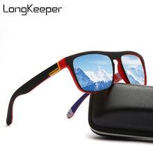 Мужские квадратные солнцезащитные очки longkeeper классические