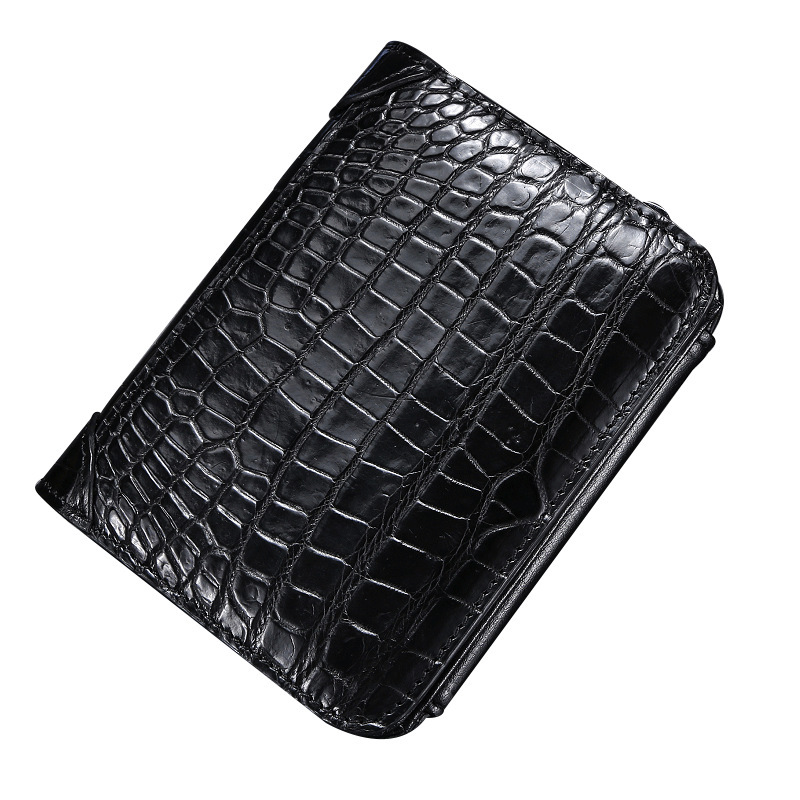 Crocodile Wallet Man Tide Brand Short Fund Genuine Leather 2019 New Defence Degaussing More Function Card Package Free Shipping
