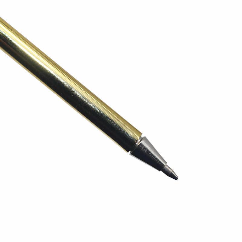 1 Uds. Bolígrafo de plumas, bolígrafo de Pluma de Oro, bolígrafo de firma de Metal, pincel, regalo de Navidad, pluma de firma de boda