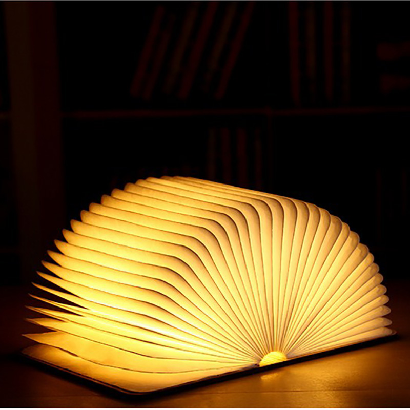 Creative Chic Book Light LED  Funny Light USB Flip Book Light USB Charging Night Light Decoration Folding Table Strange Lamp
