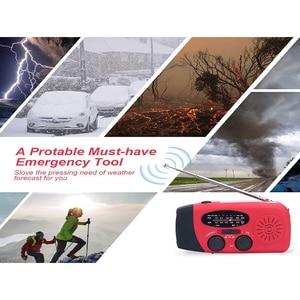 Image 5 - Multifunctionele Hand Radio Solar Crank Dynamo Powered Am/Fm/Noaa Weather Radio Gebruik Emergency Led Zaklamp En Power bank