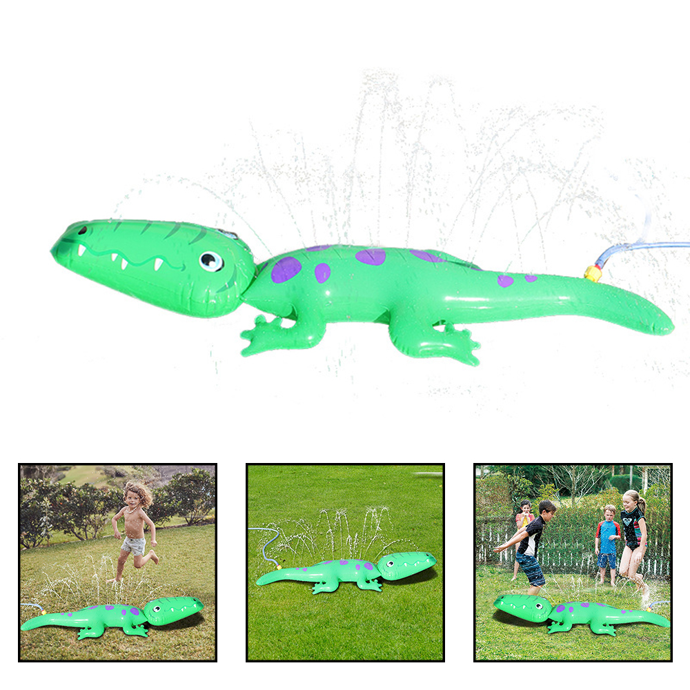 Children Inflatable Alligator Sprinkler Crocodile Lawn Outdoor Garden Pool Camping Water Splashing Party Toys