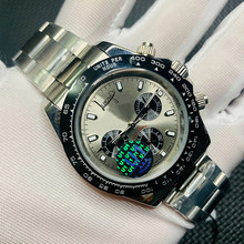 Daytona-Reloj de pulsera de plata para hombre, accesorio masculino de pulsera de cuarzo, con cristal de zafiro automático, todos los diales pequeños, funciona AAA + U1, a la moda, Envío Gratis del fabricante
