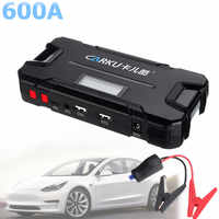 CARKU 12V 12000mAh Démarreur De Saut De Voiture D'urgence Booster de Batterie 600A lampe de poche LED QC3.0 Double USB Chargeur De Batterie Auto batterie externe