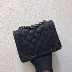 Top qualität echt leder frauen taschen caviar leder Designer Luxus Marke mode frauen mini schulter taschen