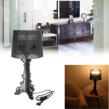 Lámpara de mesa transparente acrílica clara moderna y contemporánea lámpara de mesa de escritorio lámpara de noche de cristal LED para dormitorio