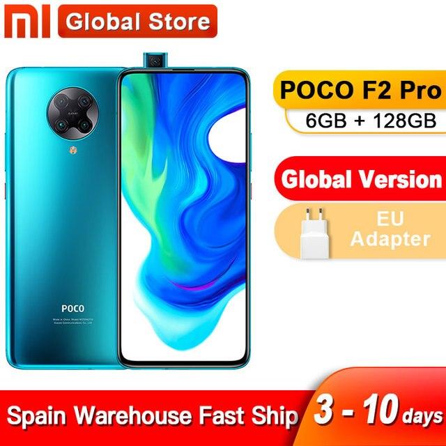 Spain Overseas Global Version Xiaomi POCO F2 Pro 6GB 128GB Qualcomm Snapdragon 865 64MP Rear Camera Smartphone 20MP Pop-up Front