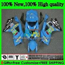 Корпус для SUZUKI 1000CC GSXR-1000 K7 rizla Blue Топ GSX-R1000 GSXR 1000 07 08 43BS. 30 GSXR1000 GSX R1000 2007 2008 07 08 обтекатели
