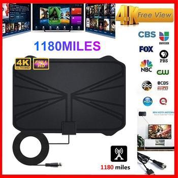 1180 km 4K cyfrowy HDTV wewnętrzna Antena telewizyjna sygnału promień TV Surf lisa Antena HD anteny telewizyjne z lotu ptaka tanie i dobre opinie Rondaful Indoor VHF (170-240Mhz) UHF( 470-860Mhz) DD01942