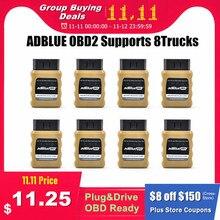 Adblue emulador nox emulation adblueobd2 plug & drive dispositivo pronto por caminhões obd2 adblue obd2 para volvo/iveco/scania/daf