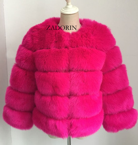 Image 5 - S 3XLミンクのコートの女性2020冬トップファッションピンクのフェイクファーコートエレガントな厚く暖かい上着フェイクファージャケットchaquetas mujer