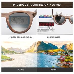 Image 5 - GM שחור אגוז עץ מסגרת משקפי שמש עם ציפוי מראה עדשת במבוק משקפי שמש UV400 הגנה עם תיבת עץ