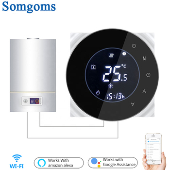 Wifi Smart Water/Gas Boiler Thermostat Tuya Remote Control Backlight Weekly Programmable LCD Touch Screen Temperature Controller 1