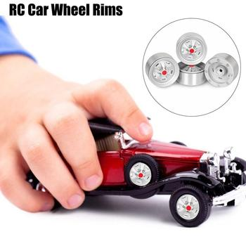 Remote Control Toy Parts Metal Wheel Silver Red Heart Five Wheel Hub 4 Pack 1.9 Inch Suit For SCX10 90046 For Traxxas TRX-4 D90