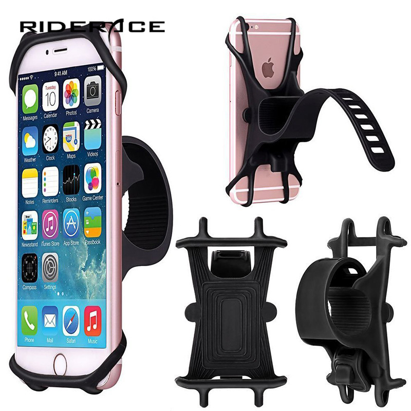 <font><b>Bicycle</b></font> Phone <font><b>Holder</b></font> Support <font><b>Smartphone</b></font> Universal Mount Bracket GPS Stand Silicone Anti Slide Handlebar Clip For iPhone RR7035 image