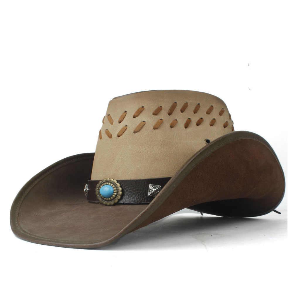 2020 кожаная мужская женская мужская Ковбойская шляпа в западном стиле шляпа с широкими полями уличная шляпа сомбреро Мужская джазовая шляпа
