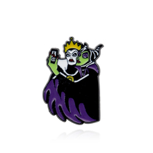 Movie Maleficent Queen Brooch and Enamel Pin Women and Men Kids Backpack Bags Shirt Hat Lapel Pin Badge Jewelry red coat brooch pill drug capsule pattern red movie ticket enamel pin backpack clothing denim badge cool hand hug heart brooch