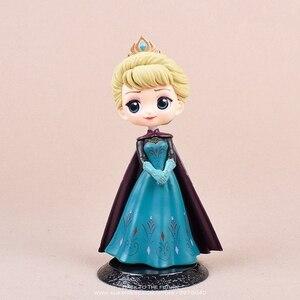 Дисней Холодное сердце Анна Эльза Принцесса 14 см мини кукла Фигурка аниме мини Коллекция фигурка игрушка модель для детей подарок