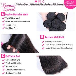 Image 4 - การรวมกลุ่มผมตรงบราซิล Hair Weave 3 Bundles ราคาถูกมนุษย์ผม Non Remy ความงาม Lueen ผม